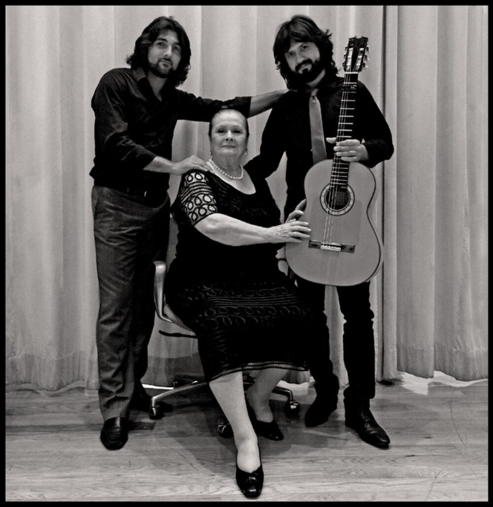 Chicuelo, Matilde Coral y Carlos Grilo